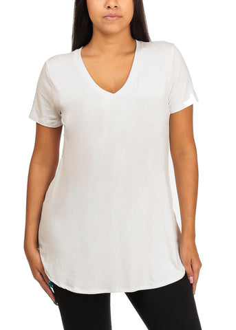 Short Sleeve Basic White Top