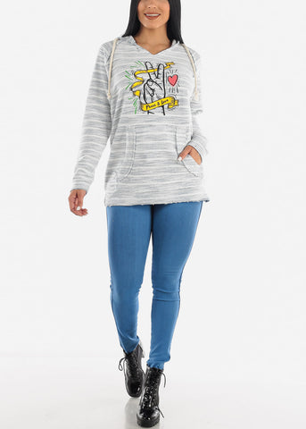 Peace and Love Graphic Sweater