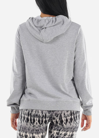 """Authentic"" Grey Graphic Hoodie"