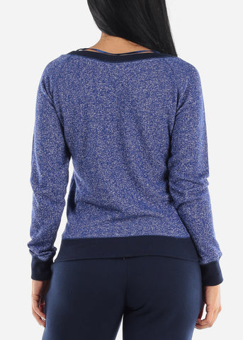 "Image of ""Paradise"" Blue Graphic Sweatshirt"
