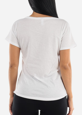 Image of Chilin Graphic Scoop Neck Top