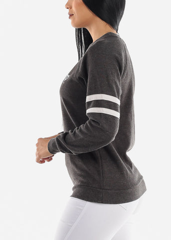 """Boss Lady"" Grey Sweatshirt"