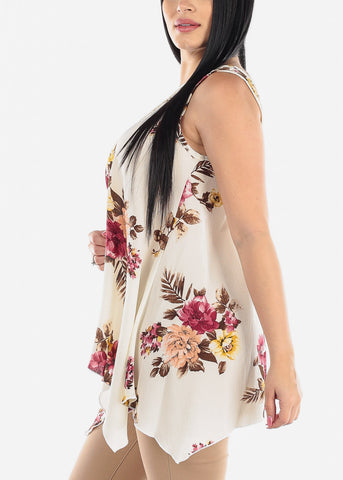 Image of Floral Cream Tunic Top