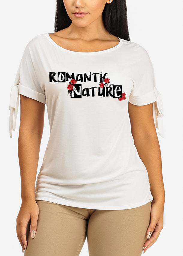 Romantic Nature Graphic Top