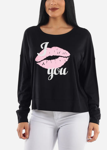 """I Love You"" Long Sleeve Top"
