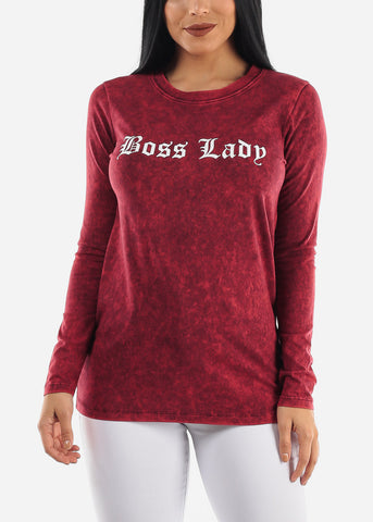 "Image of ""Boss Lady"" Red Top"