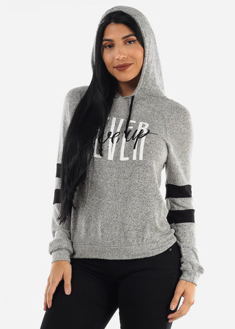 "Image of ""Never Give Up"" Grey Hoodie"