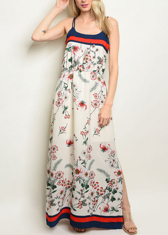 Image of Lightweight White Floral Maxi Dress