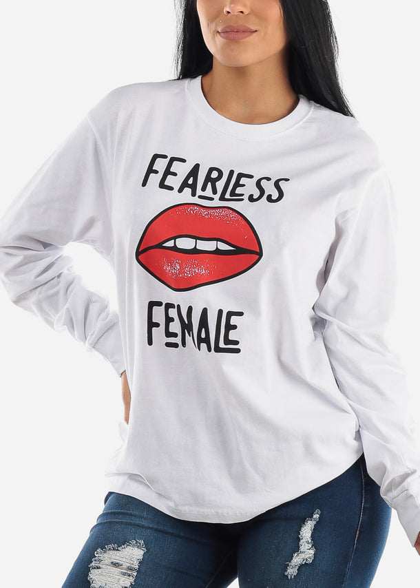"Oversized Cotton T-Shirt ""Fearless Female"""