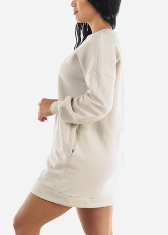 "Image of ""Wife Mom Boss"" Beige Tunic Dress"