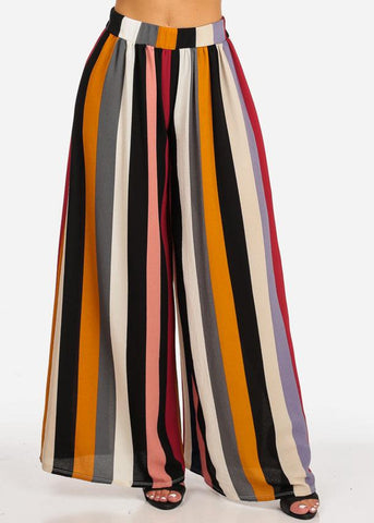 Discount Stripe Wide Leg Pants