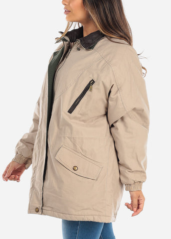 Image of  Khaki Dual Layer Winter Jacket