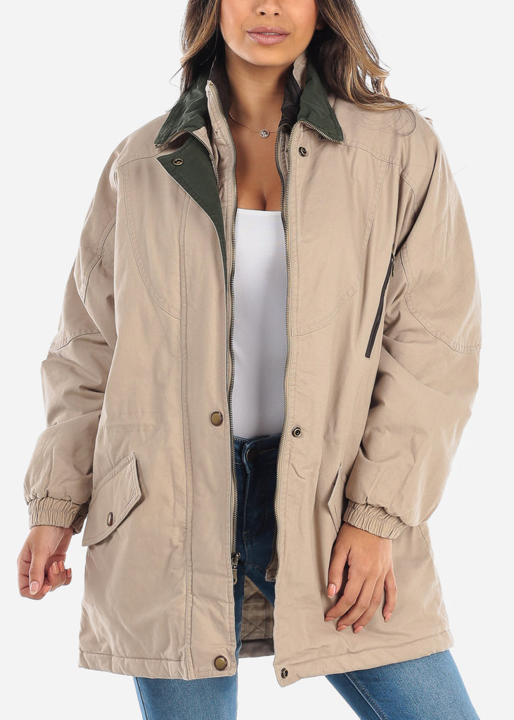Khaki Dual Layer Winter Jacket