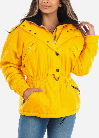 Image of Yellow Insulated Winter Jacket