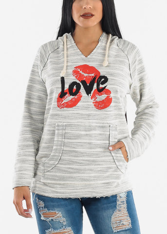 "Image of ""LOVE"" Grey Hoodie"