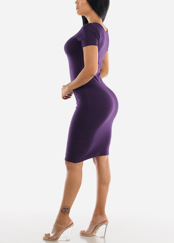 Purple Graphic Dress