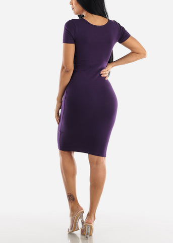 "Purple Graphic Dress ""Wifey"""