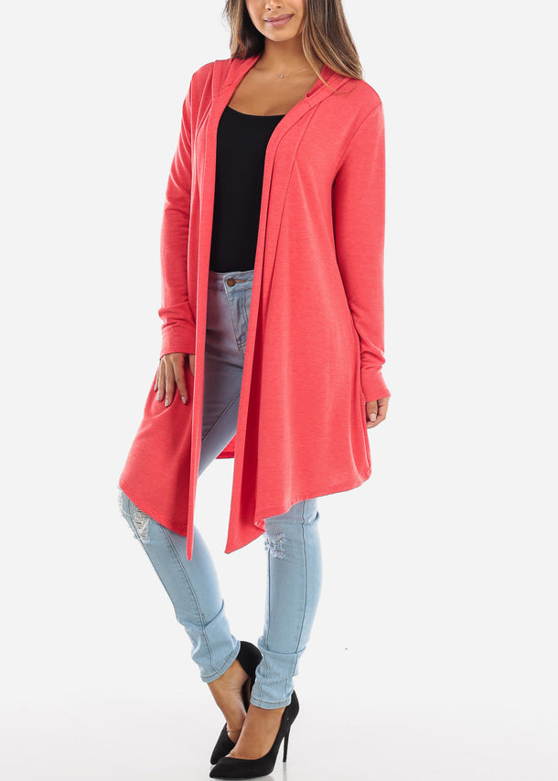 Scarlet Long Hooded Cardigan BT2333CORL