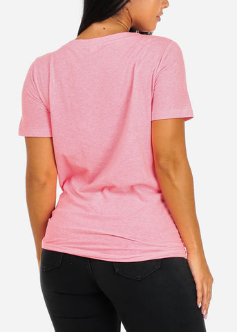 Image of Oversized Basic Pink Top
