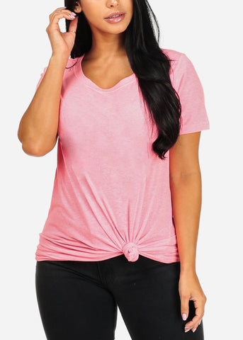 Oversized Basic Pink Top