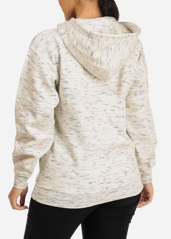 Oatmeal Heather Oversize Sweatshirt Hoodie