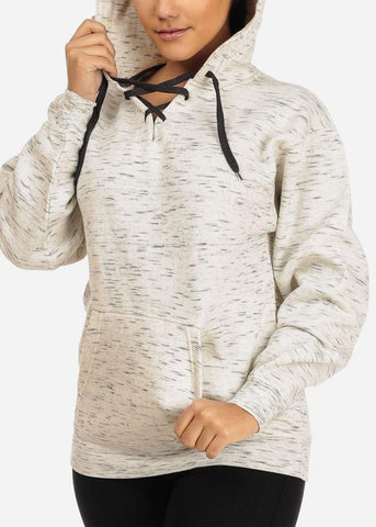 Image of Cheap Oatmeal Heather Oversize Sweatshirt Hoodie