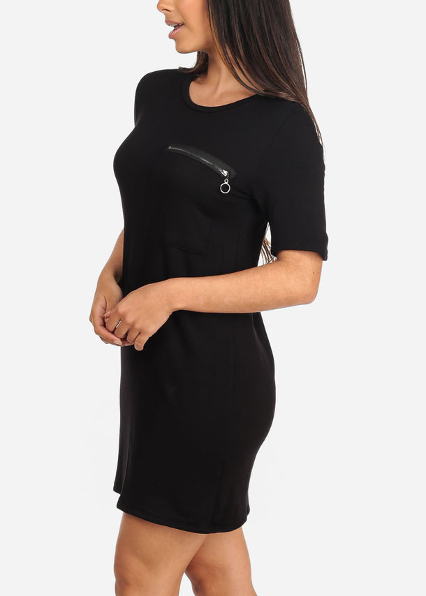 Casual Black Tshirt Dress