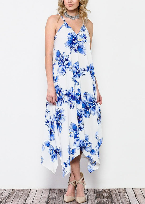 Lightweight White Floral Maxi Dress