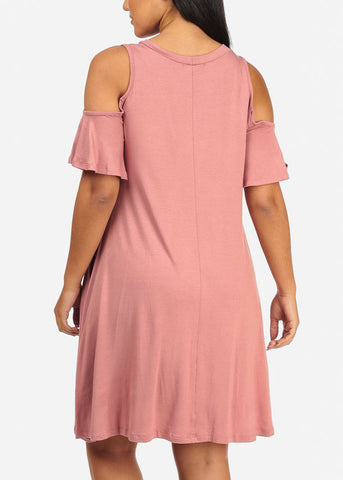 Image of Casual Flowy Mauve Dress