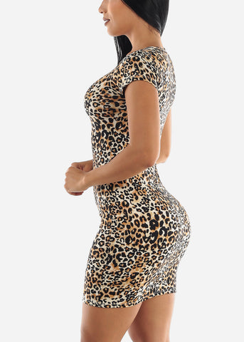 Image of Leopard Print Dress