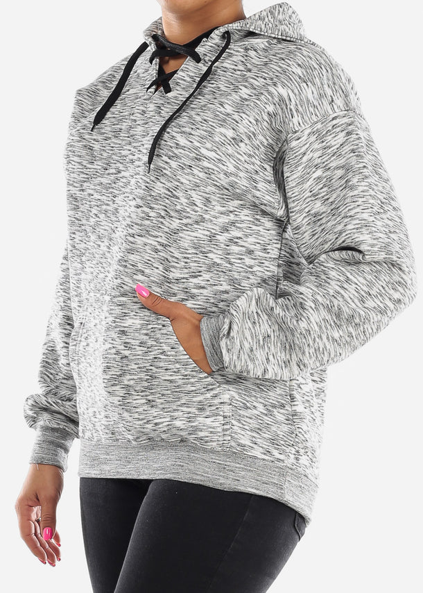Charcoal Heather Oversized Sweatshirt Hoodie
