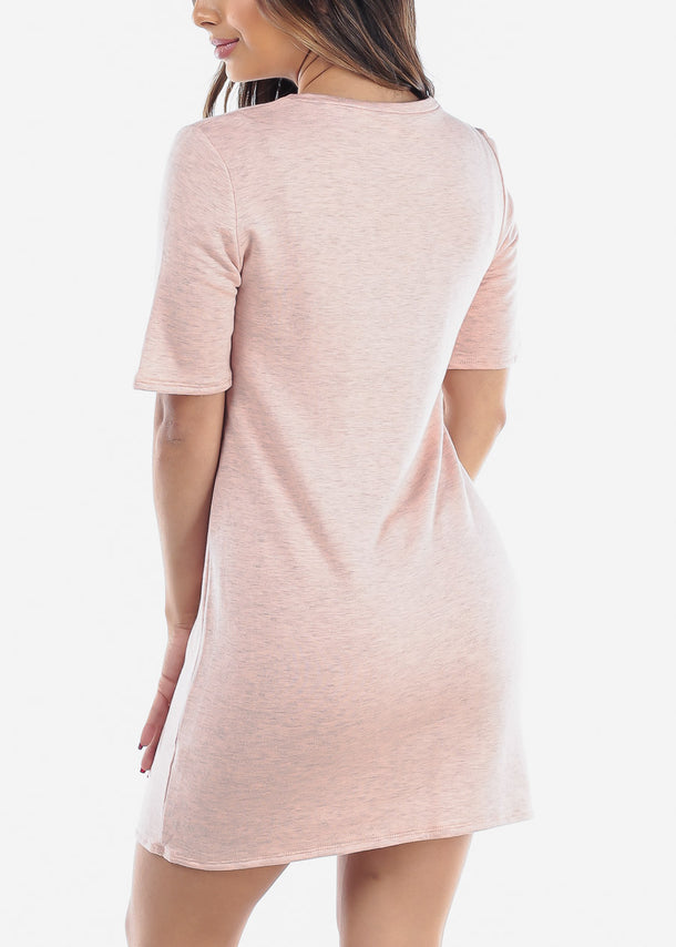 Casual Pink Tshirt Dress