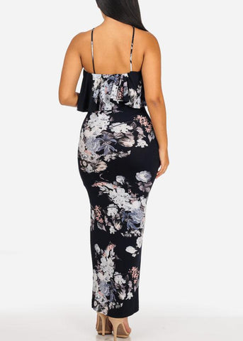 Image of Floral Ruffle Maxi Dress