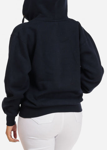 Image of Navy Zip Up Hoodie Sweatshirt