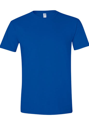 Men's Gildan Softstyle 100% Cotton Crew Neck Royal Blue Tshirt