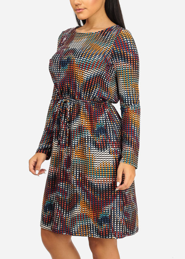 Stylish Multicolor Print Dress
