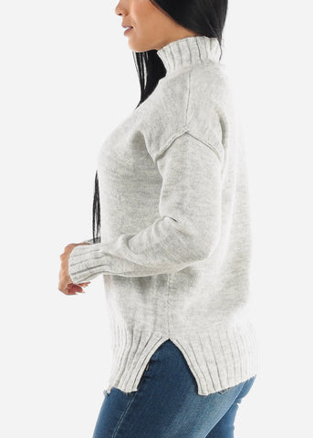 Classic Mock Neck Pullover Sweater
