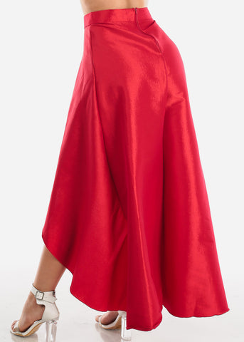 Sexy High Low Red Skirt at Discount Prices