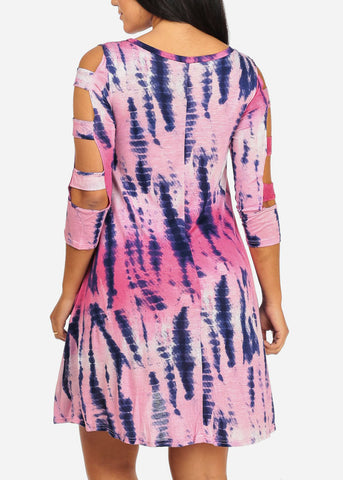 Multi-color Tie Dye Dress