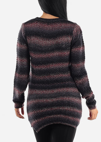 Image of Cozy Knit Comfy Slip On Sweater
