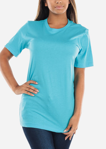 Cheap Turquoise Jersey Tee