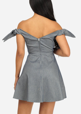 Image of Cotton Fit-and-Flare Dress