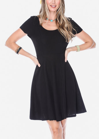 Image of Black Mini Dress