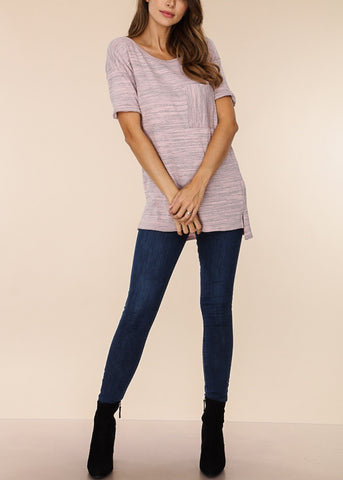Short Sleeve Mauve Top