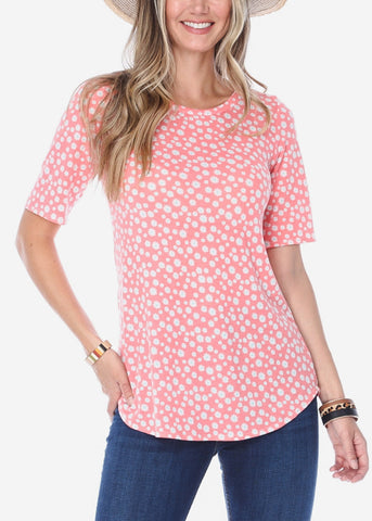 Image of Coral Floral Top