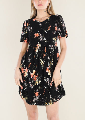 Image of Black Floral Dress