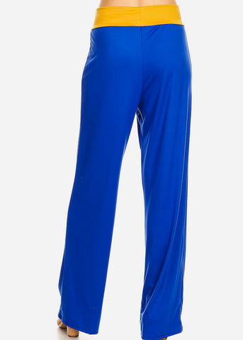 Relax Fit Colorblock Royal Pants