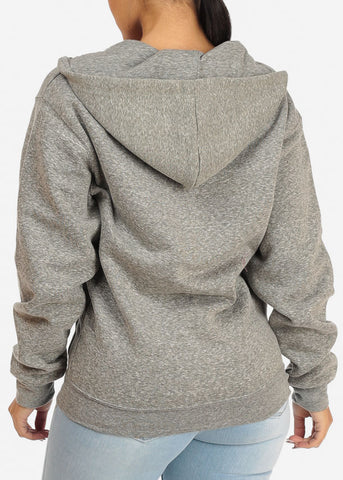 Image of Heather Charcoal Stretchy Sweatshirt Hoodie