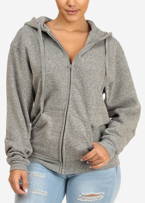 Heather Charcoal Stretchy Sweatshirt Hoodie
