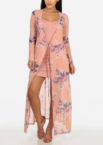 Image of Two Layer Floral Dress